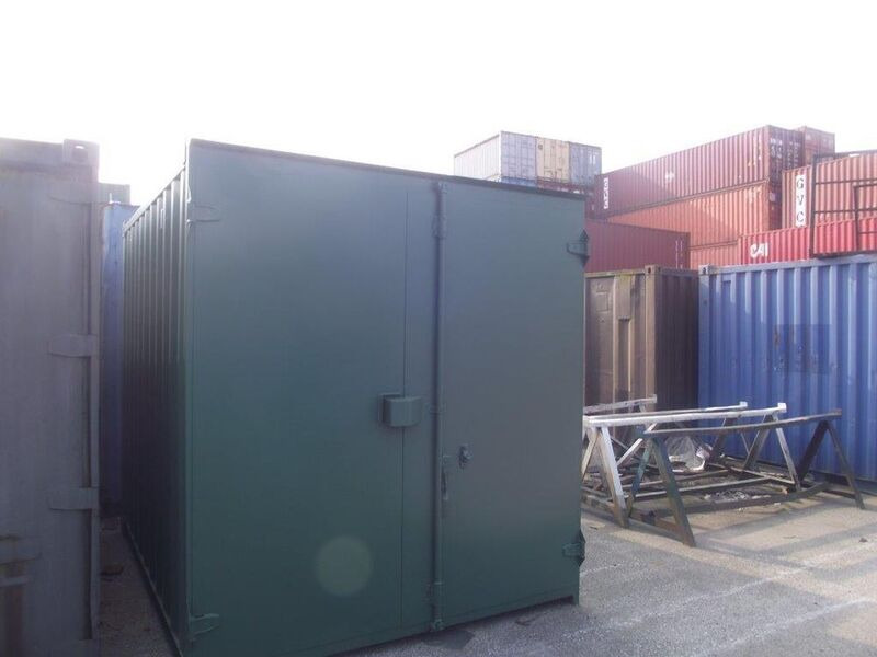 SHIPPING CONTAINERS 10ft S1 doors 65264 click to zoom image
