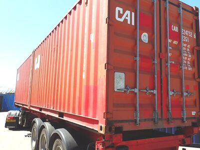 SHIPPING CONTAINERS 20ft ISO red CAIU2247326 click to zoom image