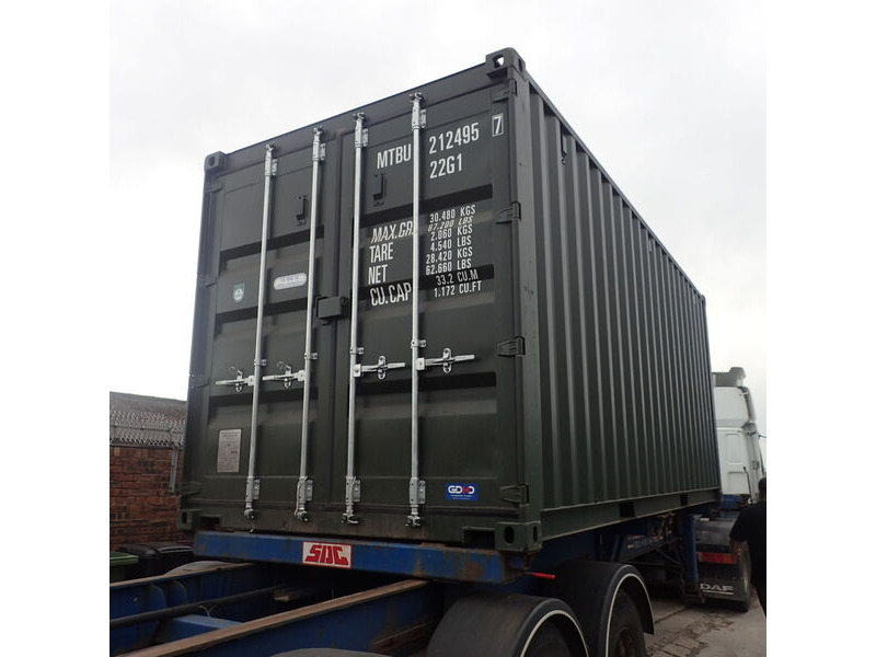 SHIPPING CONTAINERS 20ft green 66729 click to zoom image