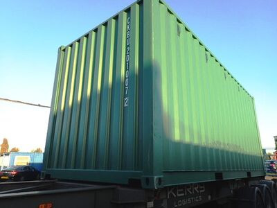SHIPPING CONTAINERS 20ft once-used original 34235 click to zoom image