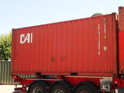 SHIPPING CONTAINERS 20ft ISO red CAIU2060572 click to zoom image