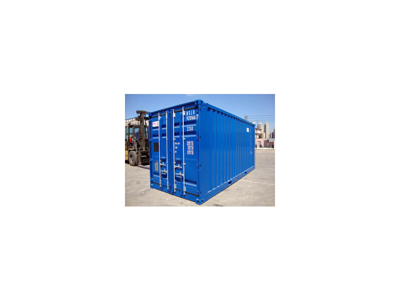 SHIPPING CONTAINERS 20ft ISO blue 26093 click to zoom image