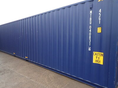 SHIPPING CONTAINERS 40ft ISO blue MTBU408316
