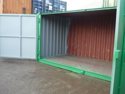 Shipping Container Conversions 16ft extra wide doors click to zoom image