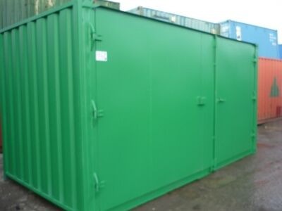 CONTAINER CONVERSION CASE STUDIES 16ft extra wide doors