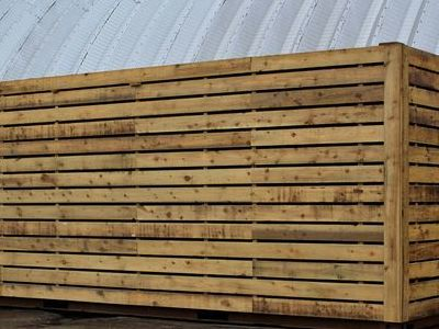 Cladded Shipping Containers 20ft Used S2 - Rustic Cladding and Plylined 9mm Redwood click to zoom image