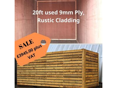 SHIPPING CONTAINERS 20ft ply lined and wood cladded HL27