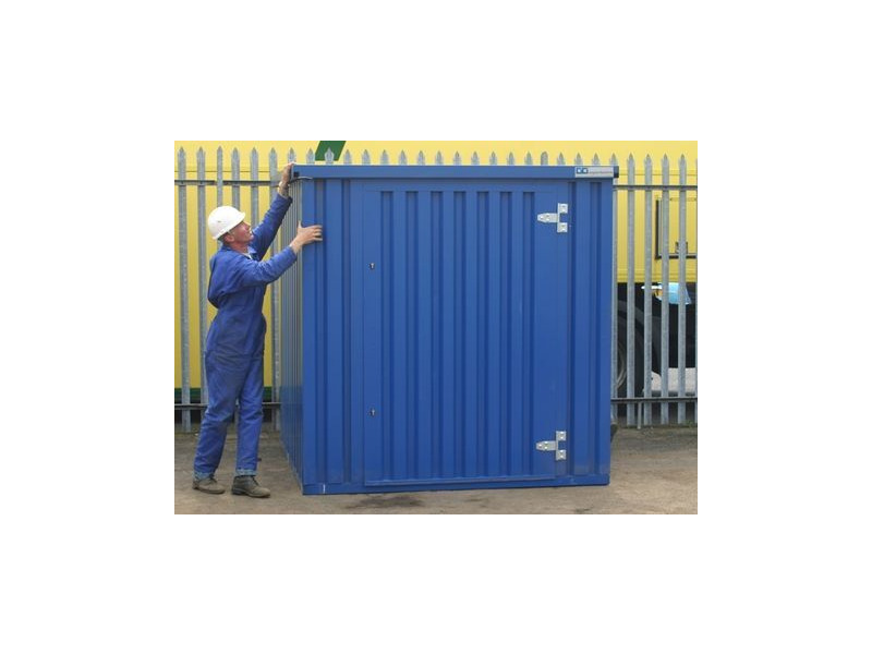 Flat Pack Containers 4m self assembly blue 41052 click to zoom image
