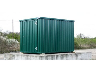 Flat Pack Containers Self Assembly 4m green click to zoom image