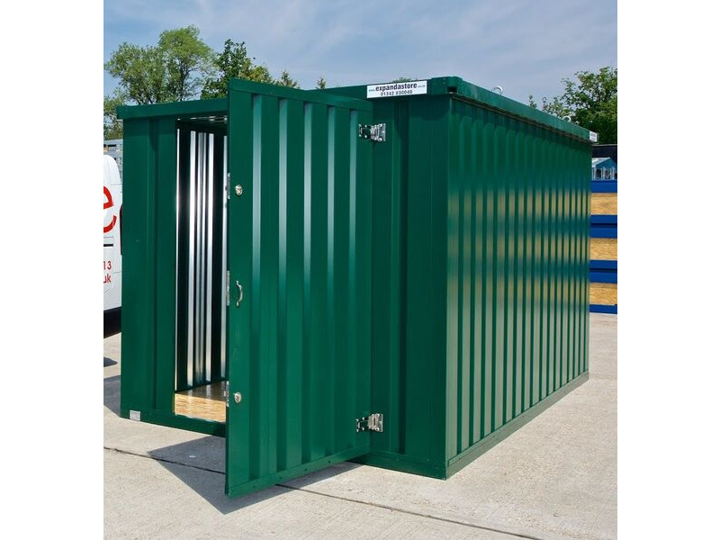 Flat Pack Containers 3m self assembly green click to zoom image