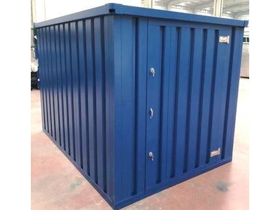 Flat Pack Shipping Containers 3m self assembly blue