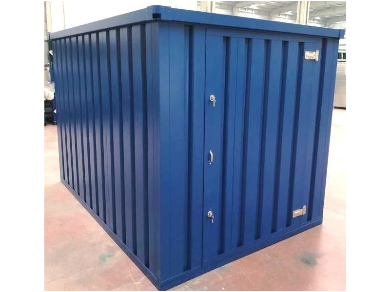 Flat Pack Containers 3m self assembly blue click to zoom image