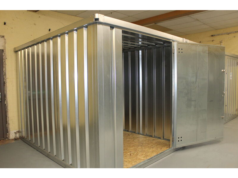 Flat Pack Shipping Containers 3m self assembly galvanised click to zoom image