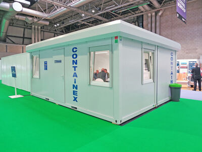Flat Pack Containers 24ft CXO cabin office click to zoom image