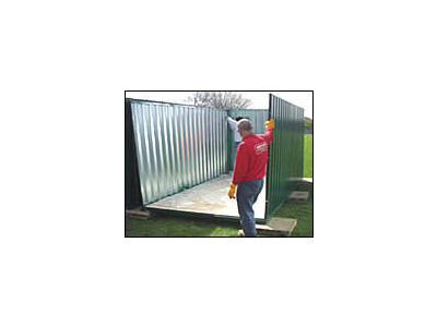 FLAT PACK CONTAINERS FOR SALE Lancashire Self Assembly Container P3M click to zoom image