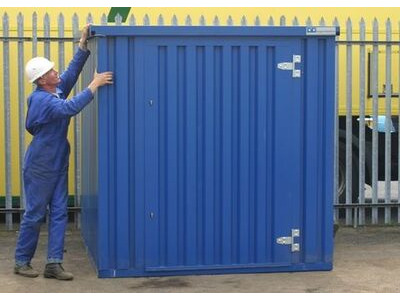 Flat Pack Shipping Containers 4m self assembly blue