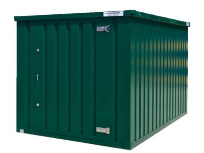 Flat Pack Shipping Containers 2m self assembly green