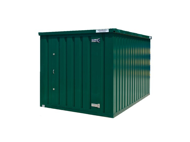 Flat Pack Shipping Containers 2m self assembly green click to zoom image