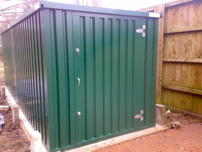 Flat Pack Containers 3m self assembly green 14306 click to zoom image