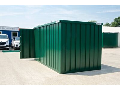 Flat Pack Containers 4m self assembly green