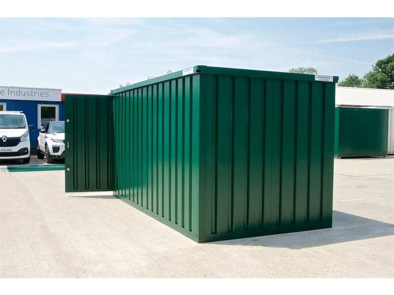 Flat Pack Containers 4m self assembly green click to zoom image