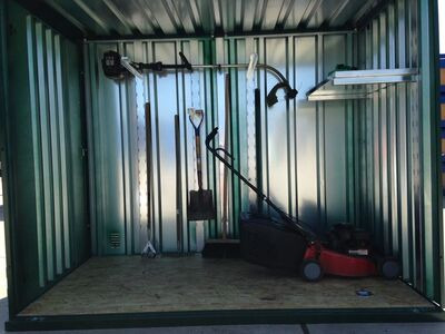 Flat Pack Shipping Containers Garden Store 2.5m x 1.5m