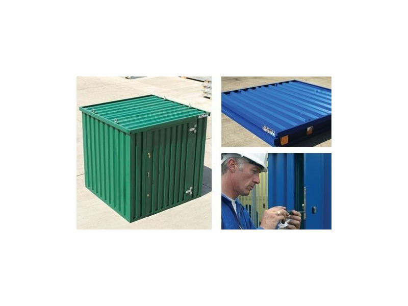 FLAT PACK CONTAINERS FOR SALE 3m self assembly green 37686 click to zoom image