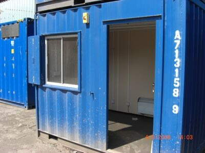 SHIPPING CONTAINERS 10ft Steel Site Office