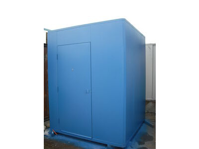 SHIPPING CONTAINERS 6ft x 6ft anti vandal Gatehouse click to zoom image