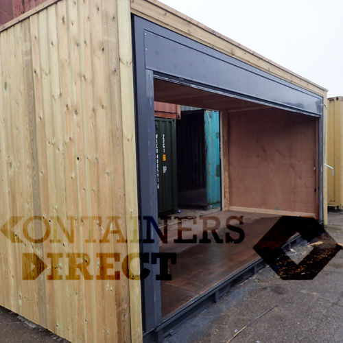 Custom Shipping Container Car Garage: CONTAINER CONVERSIONS Garage Unit 24ft X 20ft CS37850 :: £