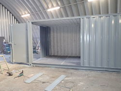 Container conversion case studies 2 x 18ft side joined cs22897 case studies - Shipping container end welding ...